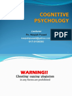 KMF1023 Module 1 Introduction Cog Psychology - Edited