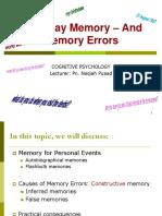 KMF1023 Module 7 Everyday Memory - Edited