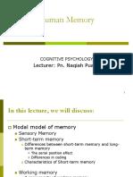 KMF1023 Module 5 Human Memory - Edited 300810
