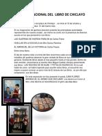 FERIA INTERNCIONAL DEL  LIBRO DE CHICLAYO