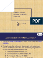 Education Loan Options for MS in Australia