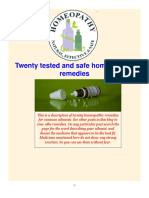 Twenty tested and safe homeopathic remedies