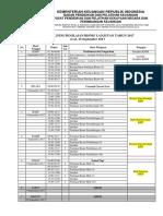 Jadwal DTSS Penilaian Bisnis Lanjutan