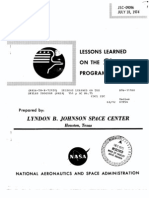 Lessons Learned on the Skylab Program JSC