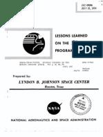 Lessons Learned on the Skylab Program JSC