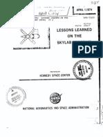 Lessons Learned on the Skylab Program KSC