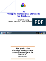 Gonong - The Philippine Professional Standards for Teachers - TEC.May 8, 2017