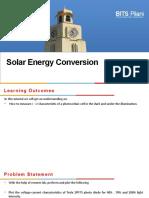 8Solar Energy conversion