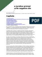 probleme juridice privind continuturile negative din internet