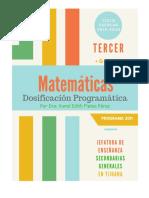 PROPUESTA de Dosificación Matemáticas Tercer Grado (Programa 2011) Ciclo Escolar 2019-2020