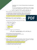 Latihan soal UAS agama islam