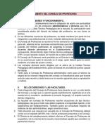 Reglamento Consejo de profesores