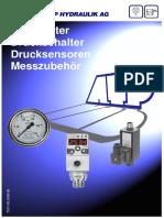 Manometer Mess und Anzeige ATP Hydraulik