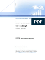 Sample Selection Report Management