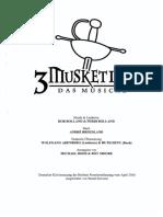 3 Musketiere - Deutscher Klavierauszug 2005 270 Seiten