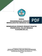 01. Buku Modul Menerapkan Prinsip Praktik Profesional dalam Bekerja