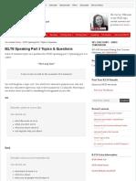 IELTS Speaking Part 2 Topics & Questions