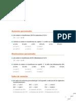 Matematicas Resueltos (Soluciones) Aritmetica Mercantil 1º Bachillerato Opción A