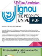 IGNOU B.Ed.- Course, Admission, Specializations, Syllabus, eligible.