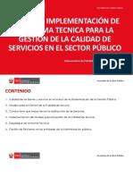 Implementación Calidad en el Sector Publico