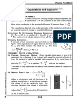 Capacitance short notes 1 by Jee