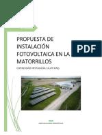 PROYECTO SOLAR CAMPAMENTO ISLA MATORRILLOS