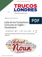 Sustantivos_ Los más Comunes en Inglés - Vocabulario