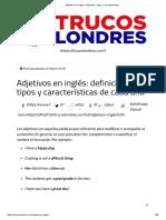 Adjetivos en Inglés_ Definición, Tipos y Características