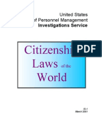 Citizenship Laws of the World
