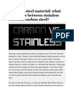 PART 95 Stainless steel material what difference between stainless steel and carbon steel
