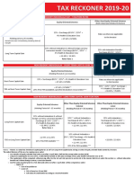 Tax Reckoner 19-20 (Kotak)