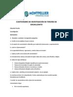 CUESTIONARIO DE INVESTIGACIÓN DE TERCERO DE BACHILLERATO