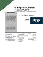 Sunday November 28 2010 Bulletin in Word