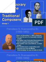 Contemporary Philippine Music Traditional Composers