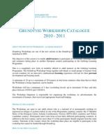 GRU Workshops Catalogue 2-7-2010
