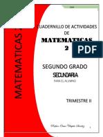 CUADERNILLO DE MATEMÁTICAS 2TRIM 2 GRADO