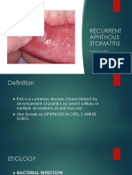 RECURRENT APTHOUS STOMATATIS [Recovered] [Autosaved] [Recovered]