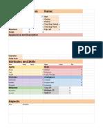 DDA Docs Sheet