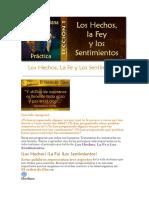 Leccion 1 Los Hechos La Fe y Los Sentimientos
