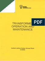 Transformer Operations and Maintenance - TNB