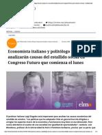 Economista italiano y politólogo francés analizarán causas del estallido social en Congreso Futuro que comienza el lunes