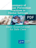 CDC Infection Prevention Practices 2016