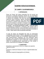 Projeto aula de campo GUARAMIRANGA