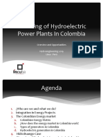 Financing of Hydroelectric Power Plants In Colombia