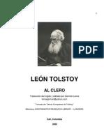 Tolstoi - Al clero
