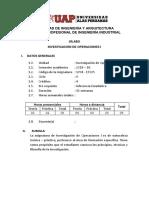 170417305 INVESTIGACIÓN DE OPERACIONES I