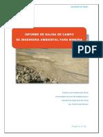 informe de salida de campo del curso de ingenieria ambiental