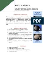 CONVOCATORIA 2020 PDF