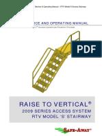 Safe-Away 2009 Series RTV S Service & Operating Manual