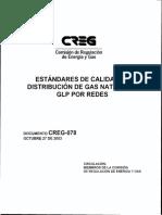 D-078 ESTANDARES CALIDAD GAS NATURAL
